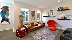 70平米后现代风格室客厅装修设计效果图