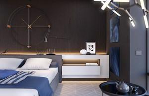 后现代简约风格一居室卧室装修效果图赏析
