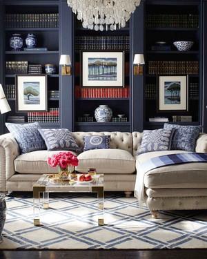 现代风格大户型客厅书柜设计效果图赏析