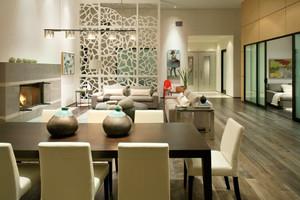 125平米现代风格客厅卧室隔断设计效果图鉴赏