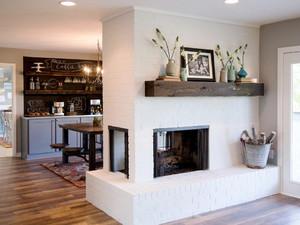 122平米美式风格客厅玄关设计效果图赏析