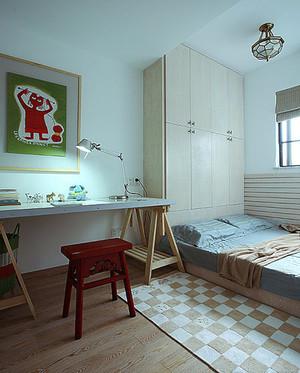 82平米日式风格木质地台床设计效果图鉴赏
