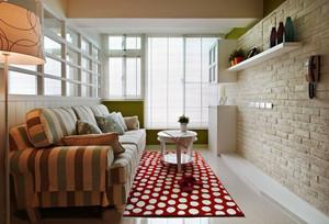 欧式田园风格二居室室内整体装修效果图赏析