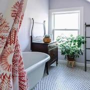14平米美式风格卫生间瓷砖装修效果图赏析