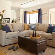 108平米现代简约风格客厅沙发茶几效果图鉴赏