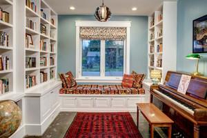 28平米现代简约美式风格书房飘窗设计效果图赏析