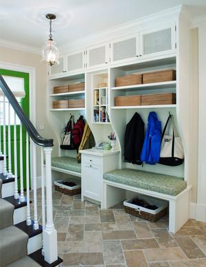 欧式风格复式楼入户玄关设计效果图鉴赏