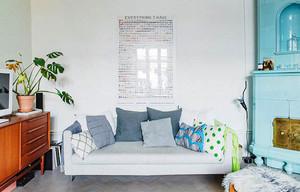 北欧风格女生公寓室内整体装修效果图鉴赏