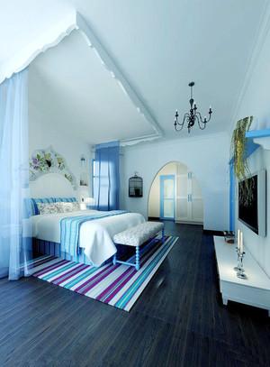 小户型地中海风格卧室室内设计装修效果图