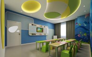 77平米现代风格幼儿园教室装修效果图赏析