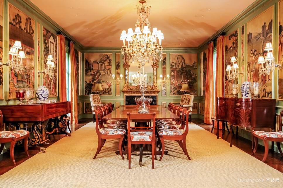 巴洛克风格别墅餐厅壁画设计效果图赏析