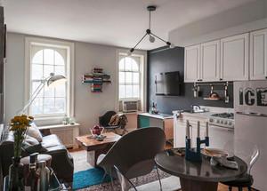 北欧风格小户型开放式厨房装修效果图鉴赏
