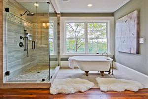 现代简约风格大户型卫生间玻璃隔断效果图赏析