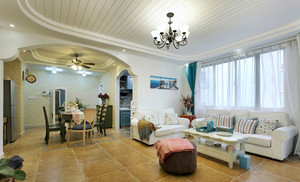 地中海风格大户型室内装修设计效果图赏析