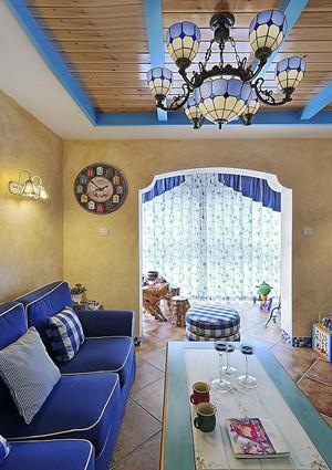 地中海风格精致典雅复式楼室内装修效果图赏析