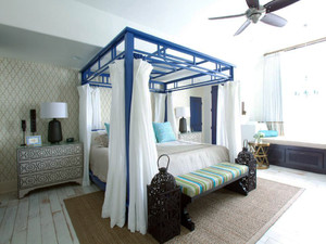 地中海风格两居室卧室飘窗设计效果图鉴赏