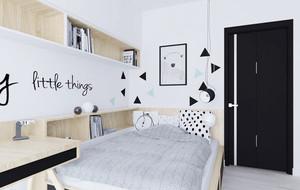 北欧风格一居室黑白卧室装修效果图赏析