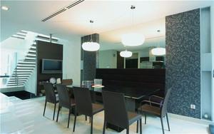后现代风格复式楼餐厅装修效果图鉴赏