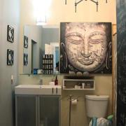 70平米后现代风格卫生间洗脸盆效果图赏析