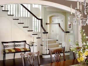 简欧风格别墅楼梯设计装修效果图鉴赏