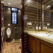 美式风格大户型卫生间隔断设计效果图鉴赏