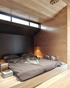 日式风格小户型木质地台床设计效果图赏析