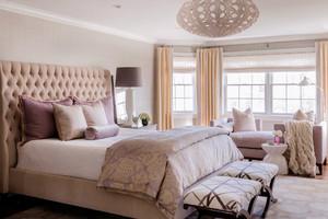 欧式田园风格四居室卧室窗帘效果图赏析