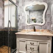 欧式风格二居室卫生间玻璃隔断墙效果图鉴赏