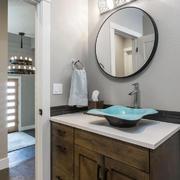 110平米美式风格卫生间洗手盆效果图鉴赏