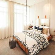 39平米北欧风格卧室窗帘效果图鉴赏