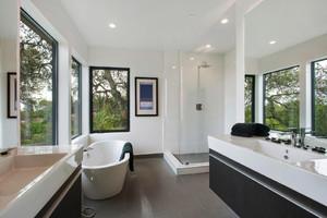 现代风格大户型卫生间淋浴房设计效果图赏析