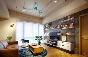 现代工业风格一居室室内装修效果图鉴赏