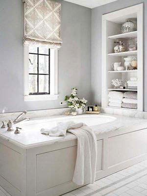 17平米现代简约风格白色卫生间装修效果图鉴赏