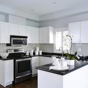 33平米现代简约风格开放式厨房装修效果图鉴赏