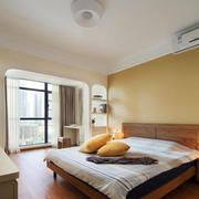 现代简约风格二居室卧室窗帘效果图鉴赏