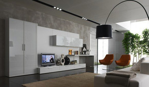 现代简约风格单身公寓客厅电视柜设计效果图赏析