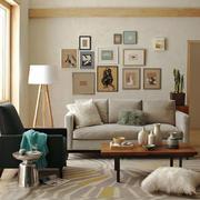 北欧风格三居室客厅照片墙设计效果图赏析
