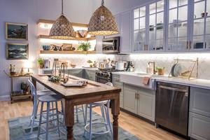 欧式风格小户型开放式厨房装修效果图鉴赏