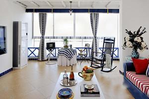 地中海风格复式楼室内整体装修效果图鉴赏