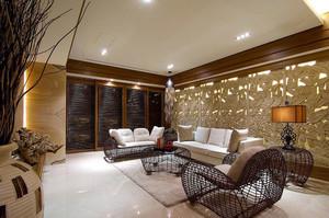 东南亚风格大户型室内整体装修效果图鉴赏