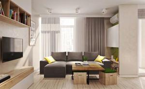 都市小清新风格两居室室内装修效果图鉴赏