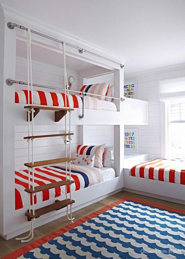 35平米欧式风格儿童房装修效果图鉴赏