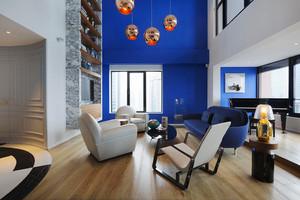 后现代风格复式楼室内装修效果图鉴赏