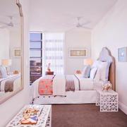 37平米简欧风格女生卧室窗帘效果图赏析