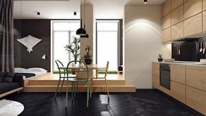 现代风格男生公寓室内装修设计效果图赏析