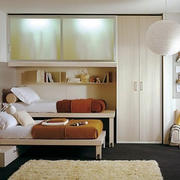 28平米现代简约风格儿童房整体衣柜设计效果图鉴赏