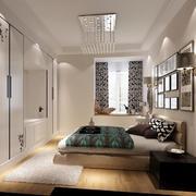 现代简约风格三居室卧室整体衣柜效果图鉴赏