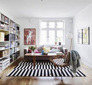 后现代风格小户型客厅地毯效果图鉴赏