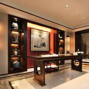 新中式风格四居室书房装修设计效果图赏析