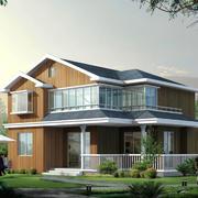 中式风格二层别墅装修设计效果图鉴赏